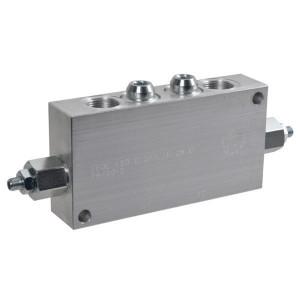 "FluidPress Balanceerventiel dubbel 3/4"" - FPOE120D34LA35B | 6-kantig | 175 mm | 90 mm | Aluminium | 120 l/min | 350 bar | 120-350 bar | 3/4"" BSP"