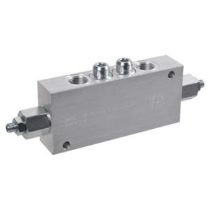 "FluidPress Balanceerventiel dubbel 1/2"" - FPOE70D12LA20B | 6-kantig | 156 mm | 70 mm | Aluminium | 70 l/min | 350 bar | 60-210 bar | 1/2"" BSP"
