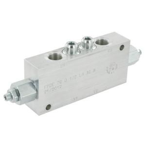 "FluidPress Balanceerventiel dubbel 1/2"" - FPOE70D12LA35B | 6-kantig | 156 mm | 70 mm | Aluminium | 70 l/min | 350 bar | 120-350 bar | 1/2"" BSP"