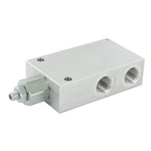 "FluidPress Balanceerventiel enkel - FPOE70S12PA35B | 6-kantig | 118.50 mm | 70 mm | 15.50 mm | Aluminium | 70 l/min | 350 bar | 120-350 bar | 1/2"" BSP"