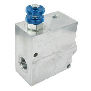 "FluidPress 3-wegstroomregelklep 1"" 150-240 - FPRF1G | Max. druk: 250 Bar. | BSP-binnendraad | Aluminium | 1 BSP | 189,5 mm | Aluminium | Handwiel | 240 l/min"