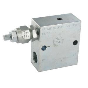 FluidPress Volgordeventiel staal 1/2 - FPSQD10001ST   Inbusschroef   40 l/min   350 bar