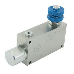 FluidPress 3- Wstroomregelventiel 50-90 ST - FPVP12ST | BSP-binnendraad | 1/2 BSP | 113,7 mm | Handrad | 90 l/min