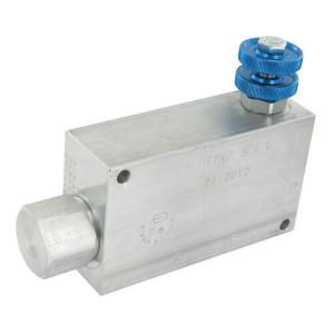 FluidPress 3-Weg stroomregelventiel 90-150 - FPVP34G | BSP-binnendraad | Aluminium | 3/4 BSP | 139,5 mm | Handrad | 150 l/min