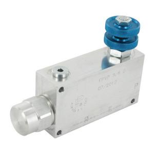 FluidPress 3-Weg stroomregelventiel 30-50 L - FPVP38G | BSP-binnendraad | Aluminium | 3/8 BSP | 113,7 mm | Handwiel | 50 l/min