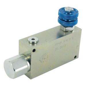 FluidPress 3-Wstroomregelventiel 30-50 ST - FPVP38ST | BSP-binnendraad | 3/8 BSP | 113,7 mm | Handrad | 50 l/min
