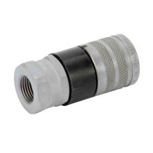 "Faster Snelkoppeling 1/2""-1/2"" BSP - FSH0812GASF | NBR / PTFE | ISO 16028 | verzinkt wit gepassiveerd | 1/2"" BSP A | 38 mm"