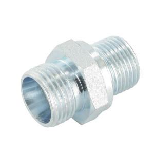 Gopart Rechte inschroefkoppeling 50St - GES15LR38P050GP | Staal. | Afdichting door snijkant. | 3/8 BSP | 400 bar | 15 mm | M22 x 1,5 metrisch