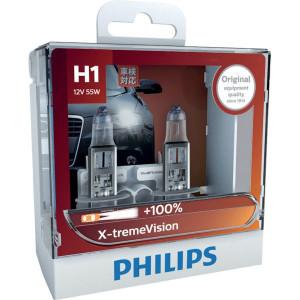 Philips Gloeilampenset 12V 55W H1 - GL12258XVS2 | 2 gloeilampen | 55 W | P14, 5s | 350 Uur | 0.362 kg