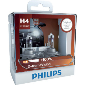 Philips Gloeilampenset 12V 55W H4 - GL12342XVS2 | 2 gloeilampen | 60/55 W | P43t-38 | 0.56 kg | 400 Uur