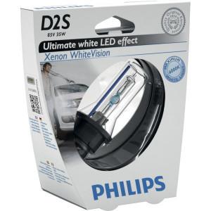 Philips Xenonlamp D2S WhiteVision - GL85122WHVS1 | 35 W | P32d-2 | 2500 Uur | 5000 K | 3200 ±450 | 0.2 kg