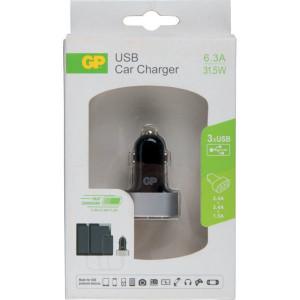 GP USB-auto-oplader CC61 3 X U - GP405073