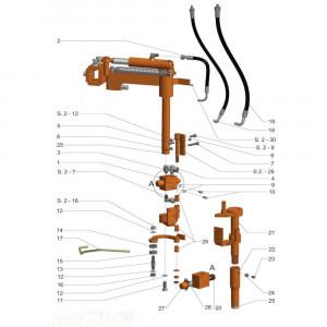 Stroken cultivator LUV - Stuurventiel
