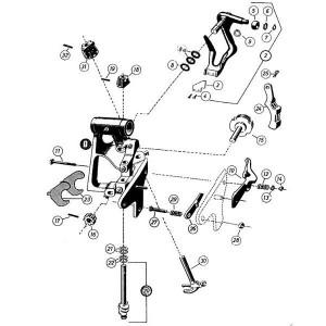 Onderdelen t.b.v. knoperapparaat cpl. Fahr