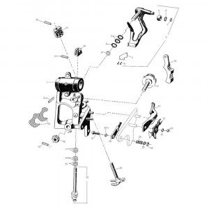 Onderdelen t.b.v. knoperapparaat cpl. Rivierre Casalis RC 8080