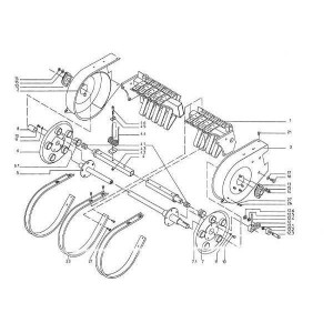 Trommel cpl. met onderdelen Krone Turbo