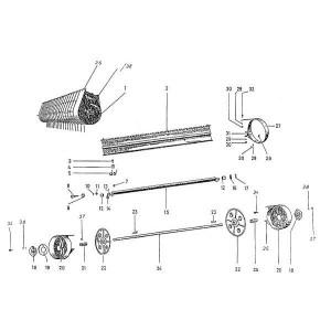 Trommel cpl. met onderdelen Bergmann L15,20,24,300,LB19,21,23,24,/Kemper EKF,KSL,Ro, type 601.000.14