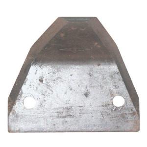 Voermengwagenmessenen driehoekig model met gebogen punt