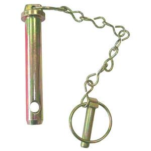 Topstangpen met ketting en borgpen | Verzinkt