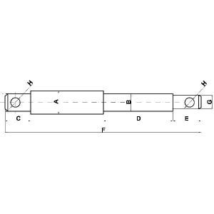 Topstangpennen met verloop type C