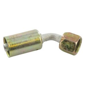 Perskoppeling/pershuls Nr. 6 45° Aluminium