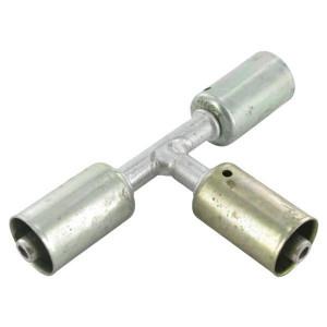 Perskoppeling/pershuls Nr. 6 Aluminium-T-Stück