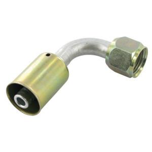 Perskoppeling/pershuls Nr. 8 90° Aluminium