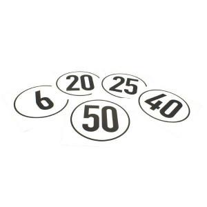 Aanduidingssticker km/h