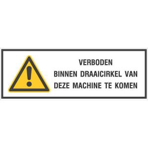 Veiligheidssignalering, Draaicirkel machine