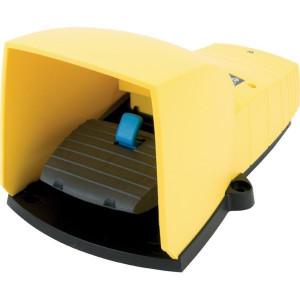 Pedaalschakelaars met beschermkap, Plastic, Geel | 2x ISO M20 of PG13