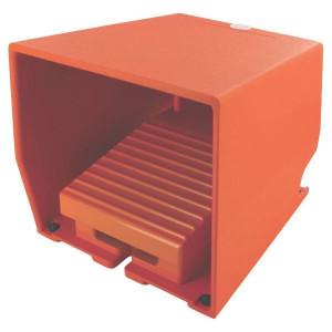Pedaalschakelaars met beschermkap, Metaal, Oranje | 2x PG16