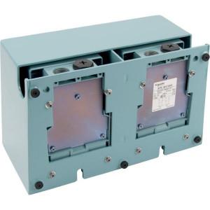 Dubbele pedaalschakelaars met beschermkap, metaal, blauw | 2x PG16