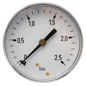 Manometer aansluiting achter 100 mm roestvast staal