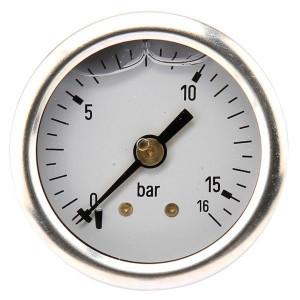 Manometer aansluiting achter 40 mm roestvast staal, gevuld met glycerine