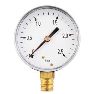 Manometer aansluiting onder 63 mm staal