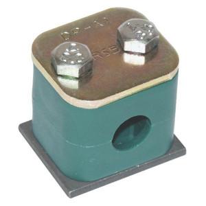 Leidingklemmen enkel, zware uitvoering compleet polypropyleen (PP) | Geribd binnenvlak | Donkergroen | DIN 3015/2 | 25 N/mm² N/mm²