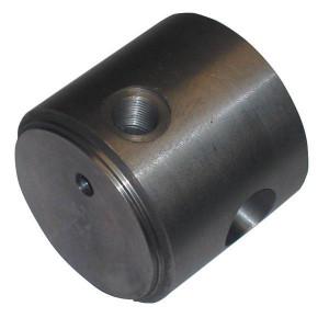 Cilinderbodem met bevesting uit één stuk + aanlsuiting | Bodemaansluiting | Kleinere inbouwlengte | Voor SATURN serie C25 | Gesmeed staal St52-3