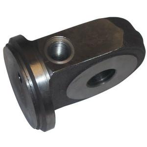 Cilinderbodem met bevestiging uit één stuk | Bodemaansluiting | Kleinere inbouwlengte | Voor SATURN serie C25 | Gesmeed staal St52-3