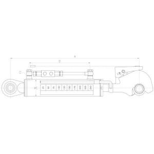 Hydraulische topstang passend voor OE | -25 +80 | 250 bar | 250 bar