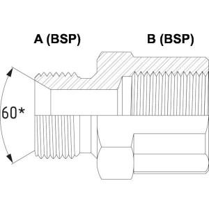 Verloopring VRB buiten/binnen (compact) | Zeer compacte verloopring | BSP inen uitwendig.