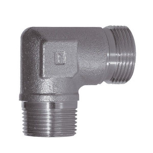 Haakse inschroefkoppeling WES-Metrisch | Minder kans op lekkage | Zink / Nikkel