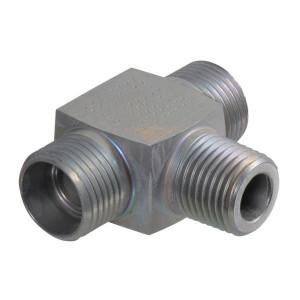 T-inschroefkoppeling TES-M | DIN 2353 | Zink / Nikkel
