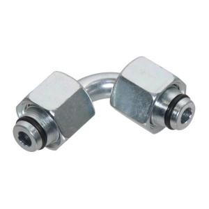 Haakse verbinding 2 zijdig wartelmoer VO-90 | DIN 3861