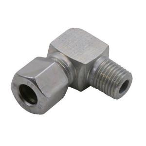 Haakse inschroefkoppeling WEV-Metrisch | 2S snijring | Zink / Nikkel