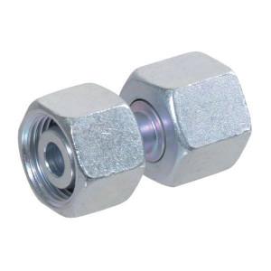Verbindingskoppeling 2 zijden wartelmoer GVO-L | Voorgemonteerd met O-ring | Minder kans op lekkage | DIN 2353 / DIN 3865 | Verzinkt