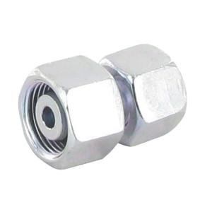 Verbindingskoppeling 2 zijden wartelmoer GVO-L/S | Voorgemonteerd met O-ring | Minder kans op lekkage | Verzinkt