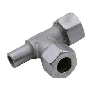 L-koppeling instelbaar ELV | 2S snijring | DIN 2353 | Zink / Nikkel