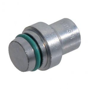 Afsluit plug voor wartel moer VS..L/S | DIN 3861 | Zink / Nikkel