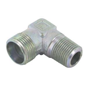 Haakse inschroefkoppeling CMCAG | Zink / Nikkel | 24 °