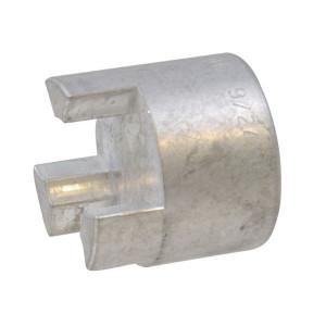 Spidex koppelingsnaaf - Aluminium voorgeboord - type HWN Desch   1 koppelingshelft   Aluminium